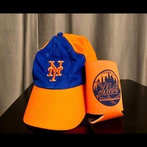 NY METS bundle-cap & drink cozy (NWOT)